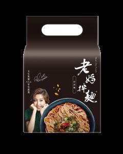 【4パック入り】台湾まぜそば 老媽拌麵(ラオマ・バンメン) 担担麺 / 老媽拌麵  担担麵  4パック × 128.6グラム